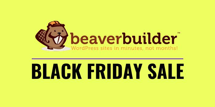beaver builder black friday cyber monday 2020 sale