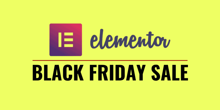 elementor black friday cyber monday 2020 sale