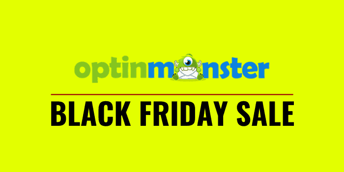 optinmonster black friday cyber monday 2020 sale