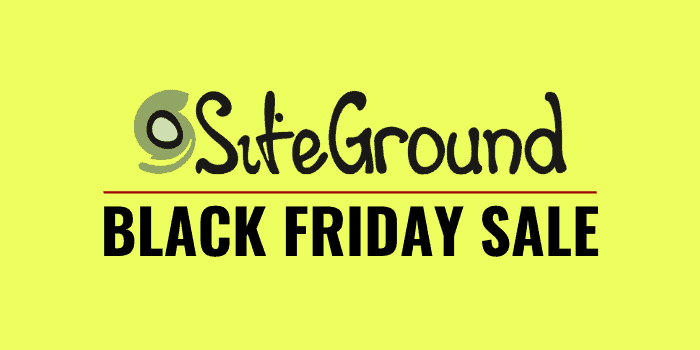 siteground black friday cyber monday 2020 sale