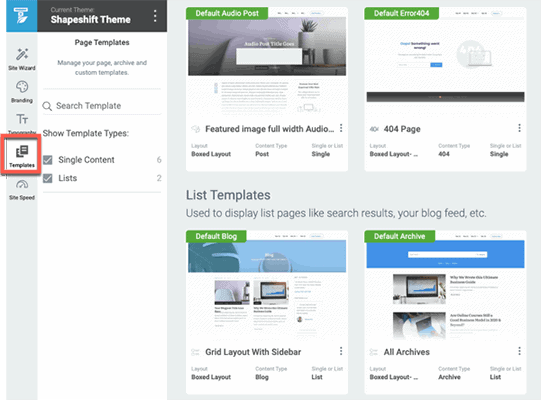 templates Thrive Theme Builder Review