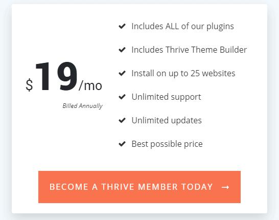 thrive membership price