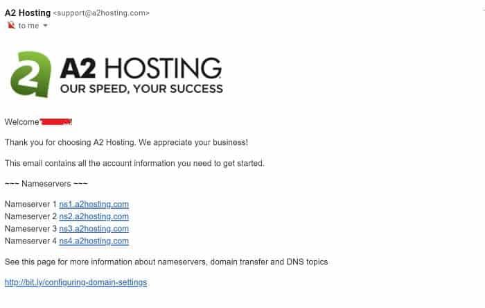 a2 hosting DNS servers