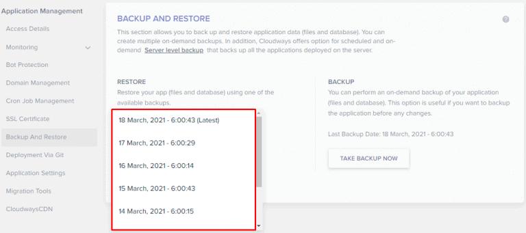 backup restore wordpress site 2
