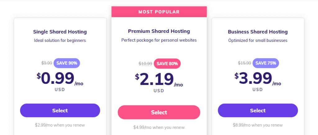 how to buy hosting from hostinger tutorial 2