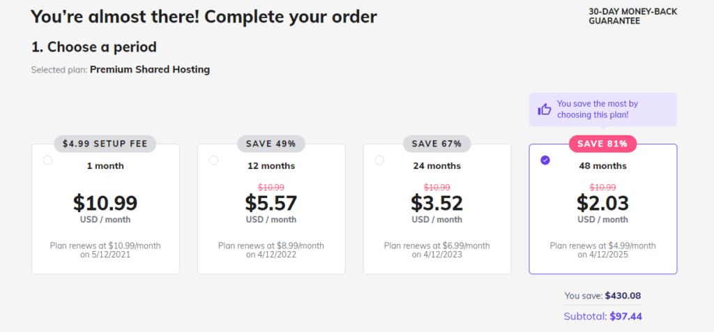 how to buy hosting from hostinger tutorial 3