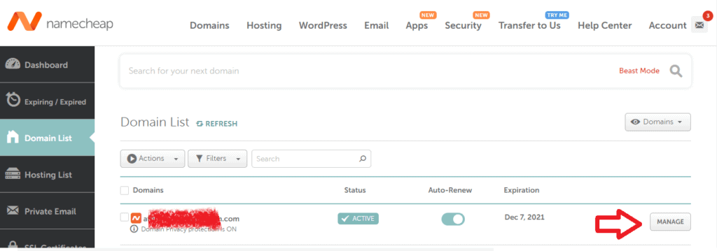 namecheap domain tutorial 1
