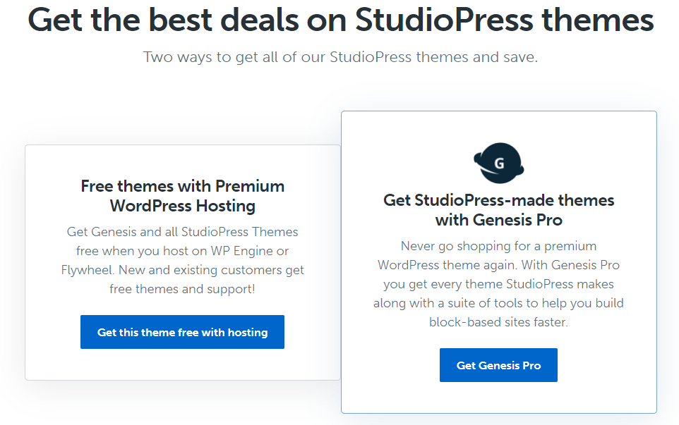 StudioPress Black Friday & Cyber Monday Deals 2021