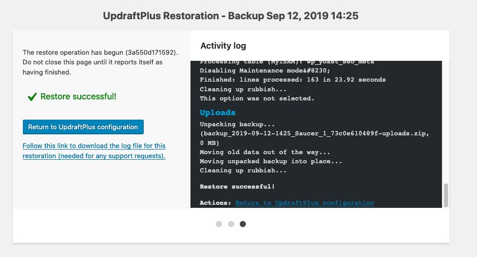 updraftplus restore