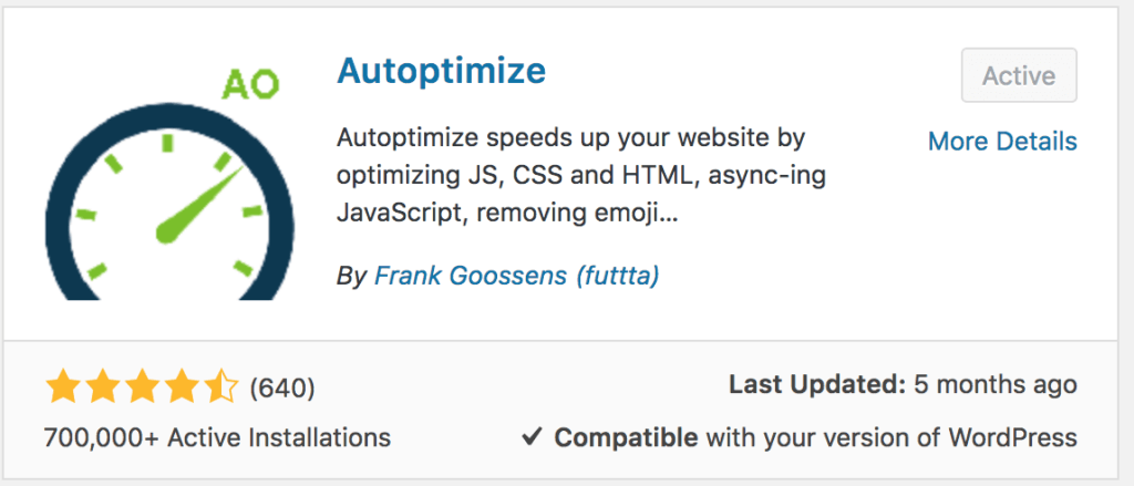 autooptimize wordpress plugin